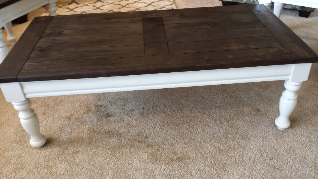 Distressed Coffee Amp Side Table Diy Peep Toes And Pacifiers